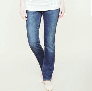 Maternity Stretch Fit Belly Straight leg Jean sz M